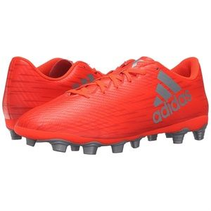 adidas Shoes - Adidas Mens Performance Soccer Shoes Red Silver